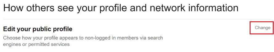 click Change next to Edit your public profile.